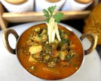 Aloo Bhindi Masala Gravy Recipe - Potato Bhindi Curry Recipe