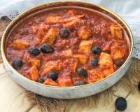 Olive & Tofu In Harissa Curry Recipe
