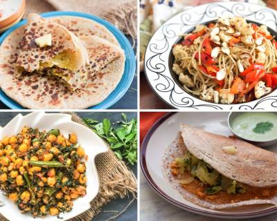 Weekly Meal Plan - Aglio Olio, Sukhe Methi Chole, Mysore Masala Dosa And Much More