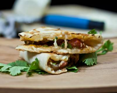 Chipotle Roasted Mushroom Vegetarian Quesadilla Recipe
