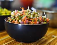 Moong Sprouts Salad with Grated Carrots & Coriander Recipe