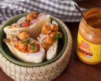 Stuffed Pita Recipe With Tandoori Mayo Chickpeas, Pickled Onions and Vegetables