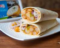 Roasted Potato Wrap/Roll Recipe With Spiced Cheese Spread