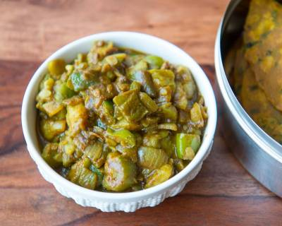 Turai Pyaz Hari Mirch Ki Sabzi Recipe-Ridge Gourd Stir Fry With Green Chili And Onions