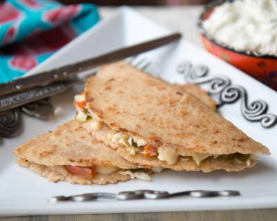 Vegetarian Roasted Carrot Zucchini Quesadilla Recipe