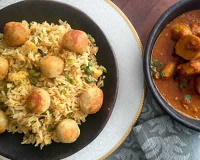 Motiya Chilman Pulao Recipe - Vegetable Rice Topped With Paneer Balls