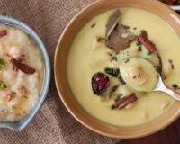 Marwadi Gatte Ki Kadhi Recipe - Gram Flour Dumpling In Yogurt Curry