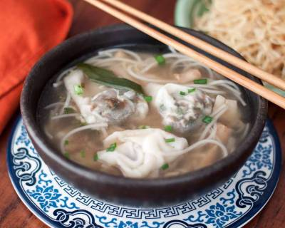 Cantonese Style Ban Mian Bian Rou Recipe - Noodle Soup With Vegetable Dumplings