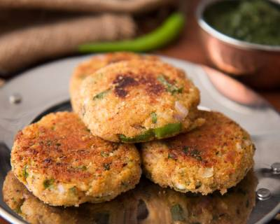 Arbi Cutlet Recipe (Spiced Colocasia Patties)