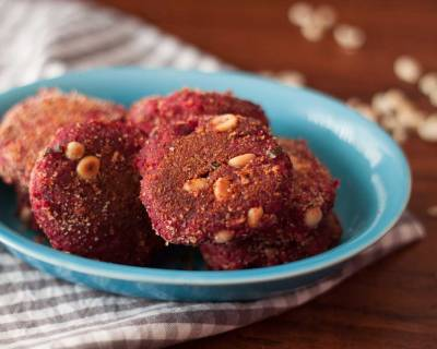 Bengali Beetroot And Raw Banana Chop Recipe (Spiced Cutlet Recipe)