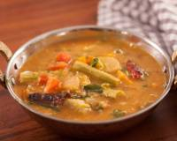 Mixed Vegetable Sambar Recipe - Tangy Lentil Curry With Vegetables