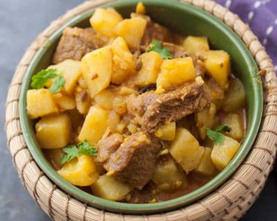 Kashmiri Style Mutton Gogji Syun Recipe - Mutton & Turnip
