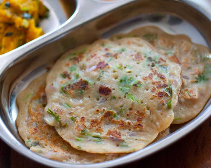 Authentic Godumai Dosai Recipe - Whole Wheat Flour Crepes