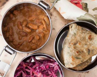 Plan Your Lunch Box Meal with Rajma Masala, Muli Tawa Paratha and Salad