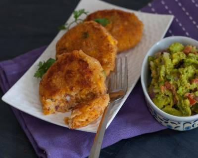 Corn Cakes Recipe With Mozzarella and Avocado Salsa Recipe