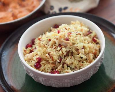 Kashmiri Style Modur Pulao With Pomegranate Recipe