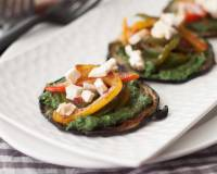 Grilled Eggplant With Spirulina Basil Pesto and Tofu Recipe