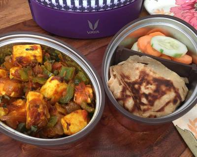 Kids Lunch with Vaya: Kadai Paneer, Tawa Paratha, Salad