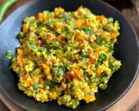 Broken Wheat Upma Recipe - Healthy Dalia Upma for Breakfast