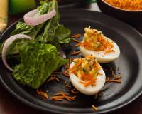 Stuffed Deviled Eggs with Parsley and Mayonnaise Recipe