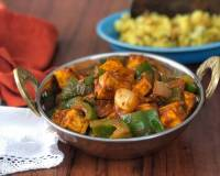 Kadai Paneer Recipe - Spiced Cottage Cheese With Green Bell Peppers