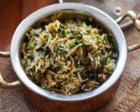 Spinach Rice Recipe - Palak Pulao