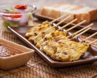 Thai Baked Chicken Satay Recipe With Thai Peanut Sauce