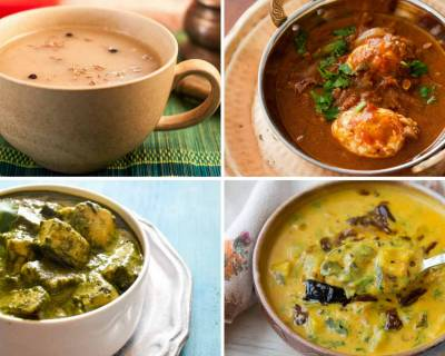 Weekly Meal Plan:Palak Paneer, Hyderabadi Khatti Dal, Wonton Soup And Much More