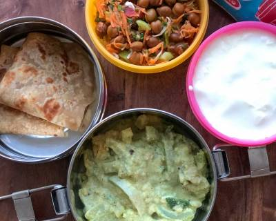 Lunch Box Recipes:Chow Chow Kootu, Tawa Paratha, Kala Chana Salad