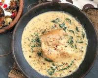 Roasted Chicken Curry Recipe In Spinach Parmesan Sauce