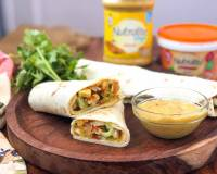 Baby Corn And Paneer Kathi Roll Recipe