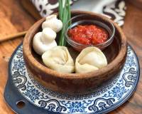 Chilli Cheese Mushroom Momo Recipe