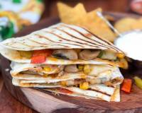 Grilled Quesadillas Recipe With Chilli Mushroom & Corn