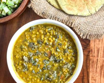 Dhaba Style Green Moong Dal Makhani Recipe