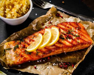 Grilled Tangy Lime Salmon Steak Recipe