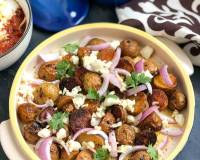 Baby Potato Salad with Onion & Cheese Recipe