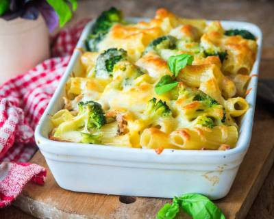 Baked Cheesy Broccoli Pasta Recipe