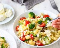 Pasta Salad With Broccoli & Feta Cheese Recipe