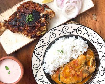 Weekend Dinner Idea: Malvani Fish Curry, Konkani Style Pomfret fry & Sol kadhi