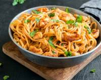Chicken Spaghetti in Tomato Basil Sauce Recipe