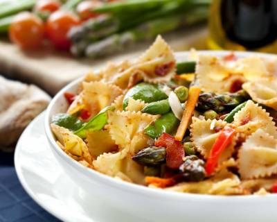 Roasted Vegetable Farfalle Pasta Salad Recipe