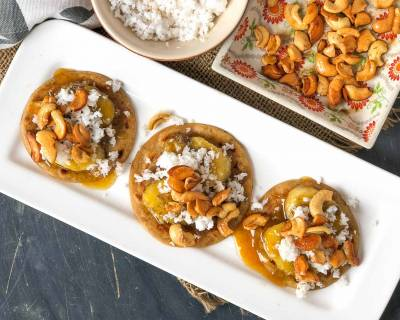 Gujarati Meetha Pudla Recipe With Caramelized Bananas