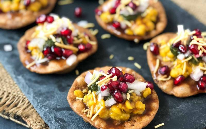 Mini Dal Pakwan Chaat Recipe - A Perfect Party Snack