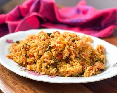 One Pot Tomato Rice Recipe Using Preethi Electric Pressure Cooker - Thakkali Sadam