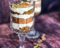 Rose Greek Yogurt Dessert Recipe With Pista & Coconut
