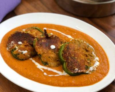 Stuffed Capsicum Makhani Recipe