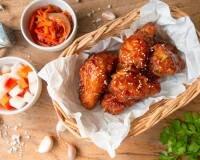 Tempura Chicken Wings With Barbecue Sauce Recipe