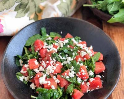 Arugula Watermelon and Feta Salad Recipe