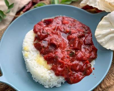 Beetroot Sambar Recipe - Tangy Beetroot Lentil Curry