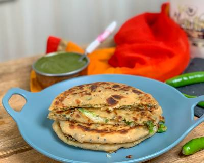 Chilli Cheese Paratha Recipe